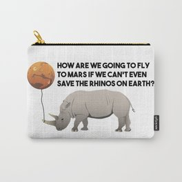 Save the Rhinos Carry-All Pouch