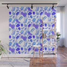 Australian Native Floral print with koalas Wall Mural