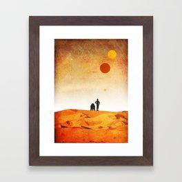 New Hope Minimalist Design Framed Art Print