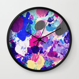 Painter's Palette Wall Clock