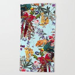 Floral and Birds XXXIV Beach Towel