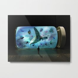 Pill Aquarium by GEN Z Metal Print