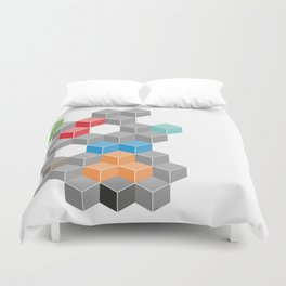 Isometric confusion Duvet Cover