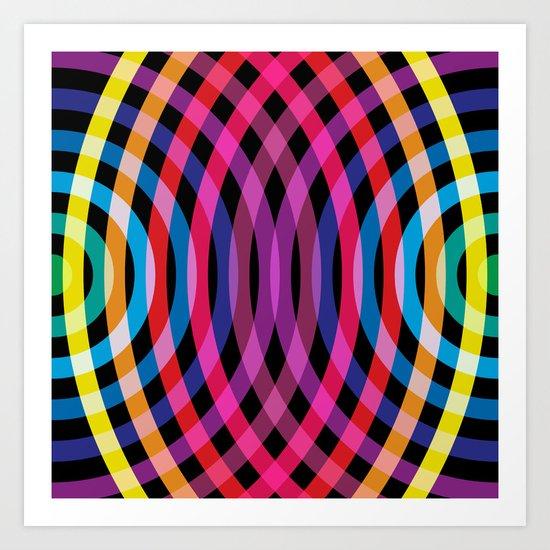 Ripple pattern Art Print