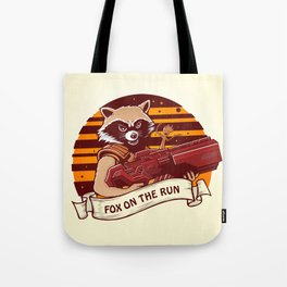 Rocket Raccoon / Fox on the Run Tote Bag