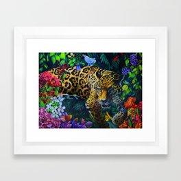Jaguar Wildcat Drawing Framed Art Print