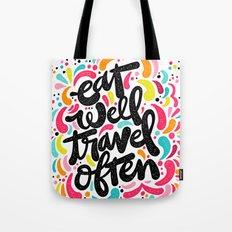 EAT & TRAVEL Tote Bag