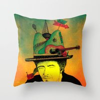 dylan Throw Pillows featuring dylan by Mariana Beldi