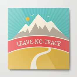 Wilderness: Leave No Trace Metal Print