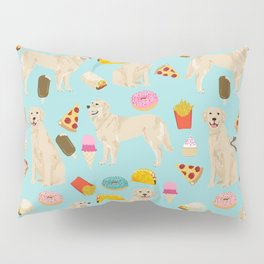Golden Retriever donuts french fries ice cream pizzas funny dog gifts dog breeds Pillow Sham