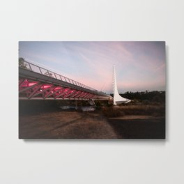 Sundial Bridge - Redding, CA Metal Print