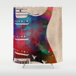 guitar art 2 Shower Curtain