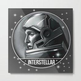 Interstellar Cooper stars fanart Metal Print