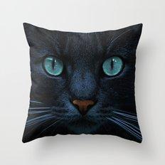 eyes of blue Throw Pillow