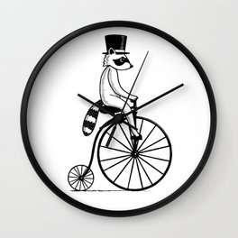 Fancy Raccoon Wall Clock
