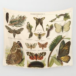 Antique Schmetterlinge I (Butterfly 1) Lithograph Wall Tapestry