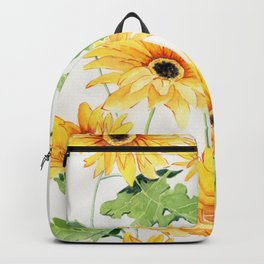 Beautiful Yellow Gerbera Backpack