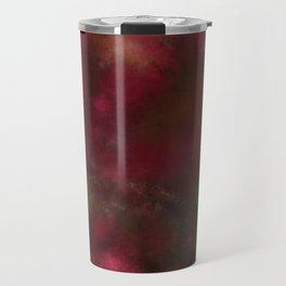 Dark red black batic look Travel Mug