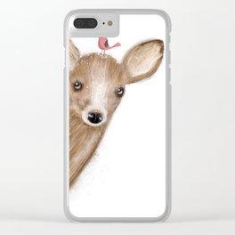 peek a boo Clear iPhone Case