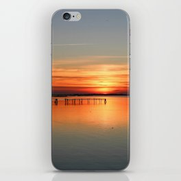 Sunset in Porto tolle Italy iPhone Skin