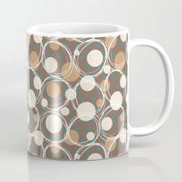 Brown and turquoise Coffee Mug