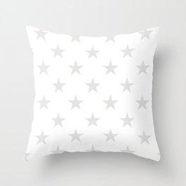 Stars (Platinum/White) Throw Pillow