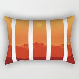 Orange Altitude Rectangular Pillow