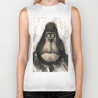 ape Biker Tanks featuring mr. Ape by mystudio69