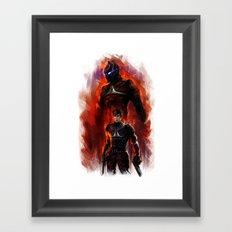 arkham knight Framed Art Print