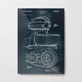 1951 - Food mixer patent art Metal Print