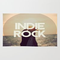 indie Area & Throw Rugs featuring Indie Rock by El Rock Es Cultura