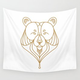 Gold Bear Two Wall Tapestry