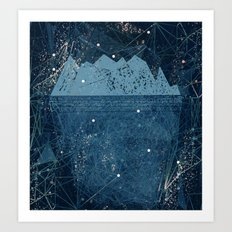 space iceberg Art Print