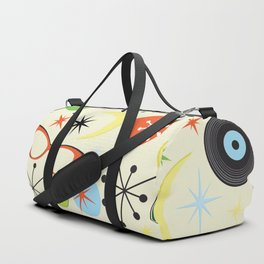 Retro 50's 60's Vintage Fashion Pattern Duffle Bag