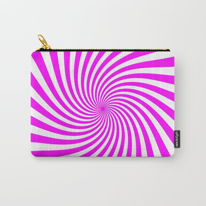 Swirl (Fuchsia/White) Carry-All Pouch