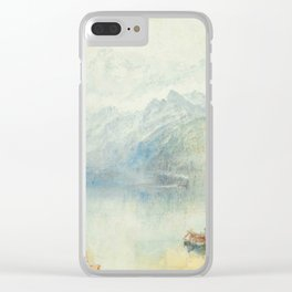 """J.M.W. Turner """"The Lake of Lucerne from Brunnen, with a Steamer"""" Clear iPhone Case"""