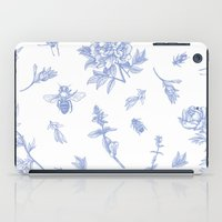insects iPad Cases featuring Insects & Flowers by Sollefe