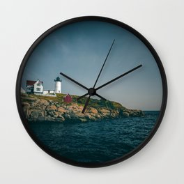 A Sunny Summer Day at Nubble Lighthouse Wall Clock