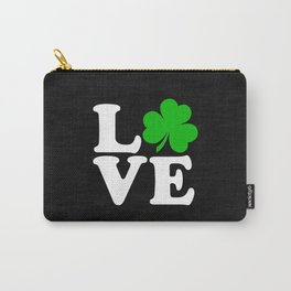 Love with Irish shamrock Carry-All Pouch