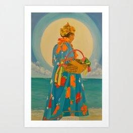 Offerings to Yemanja Art Print