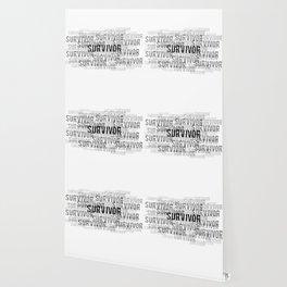 Survivor (Black Text) Wallpaper