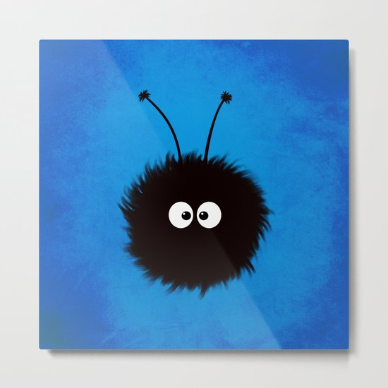 Blue Cute Dazzled Bug Metal Print