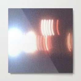 Abstracte Light Art in the Dark Version 27 Metal Print
