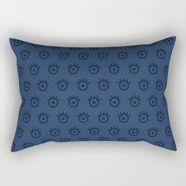 Navy Eye Rectangular Pillow