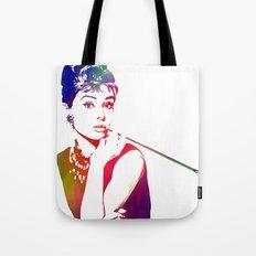 Audrey Hepburn Breakfast at Tiffany's Tote Bag