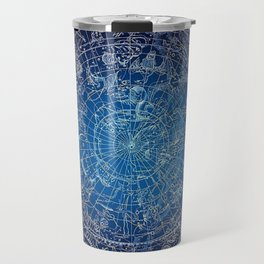 Vintage Celestial Constellations 17th Cenurty Star Map - Star Chart of the Constellations Travel Mug