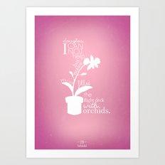 Orchids Art Print
