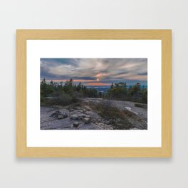 Sunset From Cadillac Mountain Framed Art Print