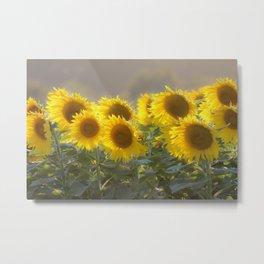 Sunflower Happy Metal Print
