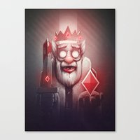 king Canvas Prints featuring King of Doom by Dctr. Lukas Brezak